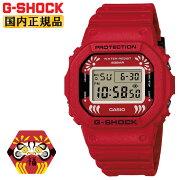 [発売日に出荷できます!]カシオGショック達磨モチーフレッドDW-5600DA-4JRCASIOG-SHOCKORIGINオリジンデジタルスクエア日本製MadeinJAPAN縁起物七転び八起き赤メンズ腕時計(DW5600DA4JR)