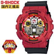 [発売日に出荷できます!]カシオGショック達磨モチーフレッド&ブラックGA-100DA-4AJRCASIOG-SHOCKデジタル&アナログコンビネーションラウンド日本製MadeinJAPAN縁起物七転び八起き赤メンズ腕時計(GA100DA4AJR)