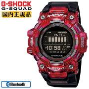 カシオGショックジースクワッドスマートフォンリンクレッドスケルトン&ブラックGBD-100SM-4A1JFCASIOG-SHOCKG-SQUADBluetooth搭載デジタルMIP液晶黒赤腕時計(GBD100SM4A1JF)