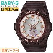 [正規品]カシオベビーG電波ソーラースターリットベゼルシリーズブラウンBGA-2700SD-5AJFCASIOBABY-GStarlitBezelデジタル&アナログコンビネーションラウンド茶色レディスレディース腕時計(BGA2700SD5AJF)