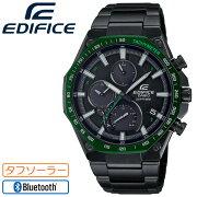 [正規品]カシオエディフィススーパースリム・ハイスペッククロノグラフソーラーモバイルリンク機能ブラック&グリーンEQB-1100XYDC-1AJFCASIOEDIFICE八角形オクタゴンBluetooth搭載スマホリンク薄型8.9mmメンズ腕時計(EQB1100XYDC1AJF)