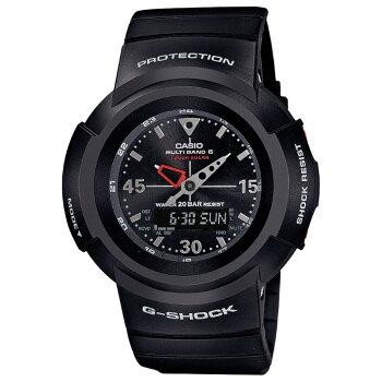 [正規品]カシオG-SHOCK電波ソーラー初代アナログモデル復刻デザインブラックAWG-M520-1AJFCASIOG-SHOCKデジタル&アナログコンビネーション黒メンズ腕時計(AWGM5201AJF)