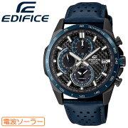 [正規品]カシオエディフィス電波ソーラーブルー&ブラックEQW-A2000CL-2AJFCASIOEDIFICEカーボンファイバー文字板クロノグラフレザーバンド青紺色メンズ腕時計(EQWA2000CL2AJF)