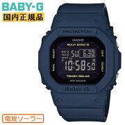 正規品カシオベビーG電波ソーラーネイビー&ブラックBGD-5000U-2JFCASIOBABY-Gデジタルスクエア紺色黒レディスレディース腕時計(BGD5000U2JF)