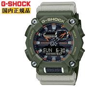 正規品カシオGショックグリーン&グレーGA-900HC-3AJFCASOG-SHOCK工業デザインモチーフヘビーデューティーデジタル&アナログコンビネーション緑灰色メンズ腕時計(GA900HC3AJF)