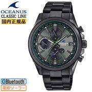正規品カシオオシアナス電波ソーラースマートフォンリンククラシックラインDLCオールブラックOCW-T4000BA-1A3JFCASIOOCEANUSBluetooth搭載チタン軽量クロノグラフ黒日本製MadeinJapanメンズ腕時計(OCWT4000BA1A3JF)