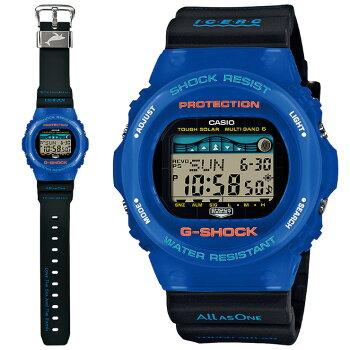 カシオGショックイルカクジラ2021電波ソーラーGライドブルー&ブラックGWX-5700K-2JRCASIOG-SHOCKG-LIDEデジタルイルクジ「アイサーチ・ジャパン」30周年記念タイドグラフムーンデータ黒青メンズ腕時計(GWX5700K2JR)
