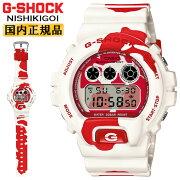 正規品カシオGショックNISHIKIGOIホワイト&レッドDW-6900JK-4JRCASIOG-SHOCK錦鯉モチーフ日本製MadeinJAPANデジタル白赤メンズ腕時計(DW6900JK4JR)