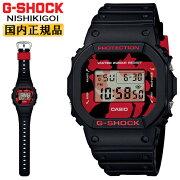 正規品カシオGショックオリジンNISHIKIGOIブラック&レッドDW-5600JK-1JRCASIOG-SHOCKORIGIN錦鯉モチーフデジタルスクエア黒赤メンズ腕時計(DW5600JK1JR)