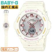 正規品カシオベビーG電波ソーラーアイスクリーム・カラーズホワイトBGA-2700CR-7AJFCASIOBABY-GIceCreamColorsデジタル&アナログコンビネーションラウンド白レディスレディース腕時計(BGA2700CR7AJF)