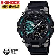正規品カシオGショックカーボンコアガード構造ブラック&グリーンGA-2200M-1AJFCASIOG-SHOCKデジタル&アナログコンビネーションラウンド黒緑灰色グレー反転液晶メンズ腕時計(GA2200M1AJF)
