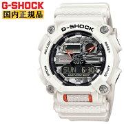 正規品カシオGショックホワイト&シルバーGA-900AS-7AJFCASOG-SHOCK工業デザインモチーフヘビーデューティーデジタル&アナログコンビネーション白銀色メンズ腕時計(GA900AS7AJF)