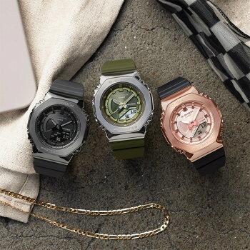 正規品カシオGショックメタルカバードミッドサイズダークグレーGM-S2100B-8AJFCASIOG-SHOCKオクタゴン八角形カーボンコアガード構造デジタル&アナログコンビネーション紺色メンズレディースCasiOakカシオーク腕時計(GM2100N2AJF)