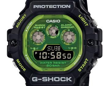 正規品カシオGショックスケルトン文字板グリーン&ブラックDW-5900TS-1JFCASIOG-SHOCKデジタル黒緑メンズ腕時計(DW5900TS1JF)