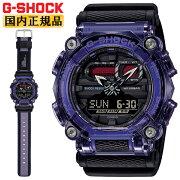 正規品カシオGショックスケルトンベゼルカバーパープル&ブラックGA-900TS-6AJFCASOG-SHOCK工業デザインモチーフデジタル&アナログコンビネーション紫黒メンズ腕時計(GA900TS6AJF)