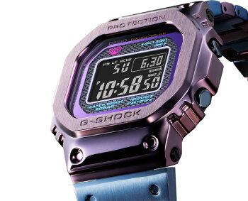 正規品G-SHOCK電波ソーラースマートフォンリンクフルメタルパープル&ブルーグレーGMW-B5000PB-6JFCASIOカシオGショックORIGINBluetooth搭載電波時計スクリューバック紫灰色メンズ腕時計日本製MadeinJAPAN(GMWB5000PB6JF)