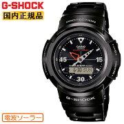 正規品カシオGショック電波ソーラーブラックAWM-500-1AJFCASIOG-SHOCKフルメタルスクリューバック日本製MadeinJAPANラウンドメタルバンドデジタル&アナログコンビネーション黒メンズ腕時計(AWM5001AJF)