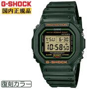 正規品カシオGショックオリジン初期モデルリバイバル復刻カラーグリーンDW-5600RB-3JFCASIOG-SHOCKORIGINデジタルスクエア緑メンズ腕時計(DW5600RB3JF)