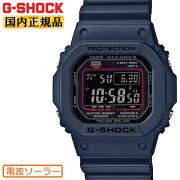 正規品G-SHOCKORIGIN5600電波ソーラーネイビー&ブラックGW-M5610U-2JFカシオGショックCASIOスクエアデジタル反転液晶紺色黒メンズ腕時計(GWM5610U2JF)