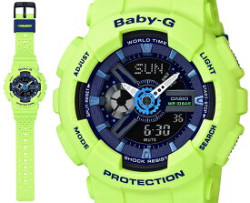 カシオ BABY-G パンチング・パターン BA-110PP-3AJF CASIO ベビーG デジタル×アナログ グリーン 緑 レディス レディース 腕時計 【正規品/送料無料】【BA110】【レビューで3年保証】【あす楽】【在庫あり】