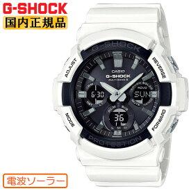 G-SHOCK 電波 ソーラー ビッグケース ホワイト&ブラック GAW-100B-7AJF CASIO カシオ Gショック タフソーラー 電波時計 デジタル&アナログ コンビネーション 白 黒 メンズ 腕時計 【あす楽】【在庫あり】
