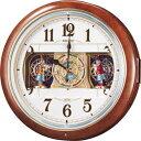 【からくり 掛 時計 電波 クロック メロディ】 電波 掛 時計 RE559H メロディ スイープ おやすみ秒針 電池切れ予告 セイコー SEIKO 【37%O...
