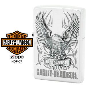 【Harley Davidson ハーレー ダビッドソン】 Zippo ハーレー ダビッドソン ジッポー ZIPPO Harley-Davidson HDP-07 シルバーイブシ 片面エッチング Sシルバーイブシメタル ライター 【お取り寄せ】【02P26Mar1