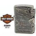 Zippo ハーレー ダビッドソン ジッポー ZIPPO Harley-Davidson HDP-28 ブラックサテン シルバー ライター 【お取り寄…