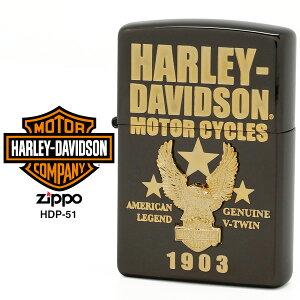 【Harley Davidson ハーレー ダビッドソン】 Zippo ハーレー ダビッドソン ジッポー ZIPPO Harley-Davidson HDP-51 ブラックイオン ゴールドメッキ ゴールドメタル ライター 【在庫あり】【02P26Mar16】【RCP】