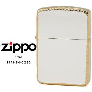 【Zippo ジッポー ライター】 Zippo ジッポー ZIPPO 1941-3H/C 2 SG ゴールド 10ミクロン サテーナ リューター 手彫り彫刻 オイル ライター 【お取り寄せ】【RCP】