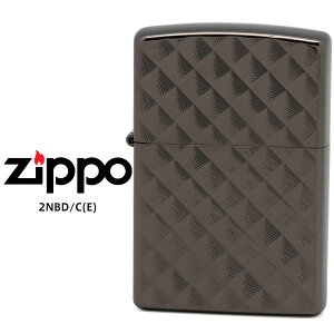【Zippo ジッポー ライター】 Zippo ジッポー ZIPPO ダイヤモンドカット Diamond cut 2NB-D(E) 2NBD/C(E) ネオブラック Neo Black 両面加工 オイル ライター 【お取り寄せ】【RCP】