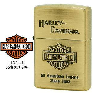 【Harley Davidson ハーレー ダビッドソン】 Zippo ハーレー ダビッドソン ジッポー ZIPPO Harley-Davidson HDP-11 BS古美メッキ 片面エッチング BS古美メタル ライター 【お取り寄せ】【02P26Mar16】【RCP】