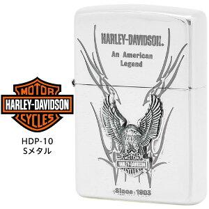【Harley Davidson ハーレー ダビッドソン】 Zippo ハーレー ダビッドソン ジッポー ZIPPO Harley-Davidson HDP-10 シルバーイブシ 片面エッチング シルバーイブシメタル ライター 【お取り寄せ】【02P26Mar16