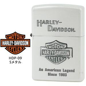 【Harley Davidson ハーレー ダビッドソン】 Zippo ハーレー ダビッドソン ジッポー ZIPPO Harley-Davidson HDP-09 シルバーイブシ 片面エッチング シルバーイブシメタル ライター 【お取り寄せ】【02P26Mar16