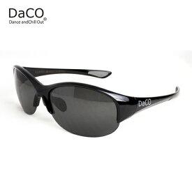 DaCO SURRY BK/BK/SP スポーツサングラス レディース スモーク偏光レンズ ブラック UVカット 紫外線カット ゴルフ ドライブ テニス ウォーキング