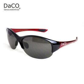 DaCO SURRY BK/MR/SP スポーツサングラス レディース スモーク偏光レンズ ブラック レッド メタリック UVカット 紫外線カット ゴルフ ドライブ テニス ウォーキング