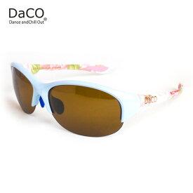 DaCO SURRY MB/BT/BP スポーツサングラス レディース ブラウン偏光レンズ ミルキーブルー ボタニカル 花 ピンク オレンジ UVカット 紫外線カット ゴルフ ドライブ テニス ウォーキング