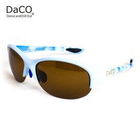 DaCO SURRY MB/SO/BP スポーツサングラス レディース ブラウン偏光レンズ ミルキーブルー 空 sora UVカット 紫外線カット ゴルフ ドライブ テニス ウォーキング