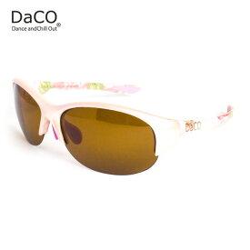 DaCO SURRY MP/BT/BP スポーツサングラス レディース ブラウン偏光レンズ メタリック ミルキーピンク ボタニカル 花 ピンク オレンジ UVカット 紫外線カット ゴルフ ドライブ テニス ウォーキング