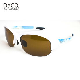 DaCO SURRY WH/SO/BP スポーツサングラス レディース ブラウン偏光レンズ ホワイト ブルー 空 sora UVカット 紫外線カット ゴルフ ドライブ テニス ウォーキング