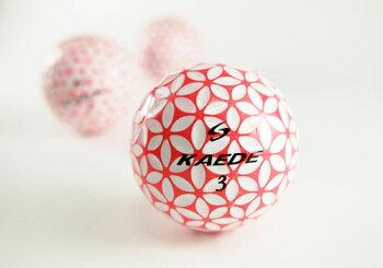 カエデ(KAEDE)ゴルフボール1スリーブピンク【税込】【お試し】【よりどり2スリーブ以上で送料無料離島・沖縄除く】