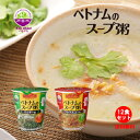 Xin chao!ベトナム ベトナムのスープ粥 12食セット(パクチー味6食&フライドオニオン味6食)