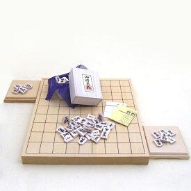 木製将棋セット ヒバ1寸卓上接合将棋盤竹と白椿上彫将棋駒と駒台付(セール)