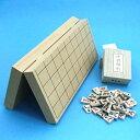 木製将棋セット 新桂10号折将棋盤と楓漆書将棋駒