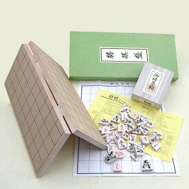 木製将棋セット 新桂5号折将棋盤と優良押駒のセット(セール)