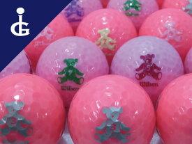 【送料無料】ウィルソン ベア クレアカラー:ピンク3ダースセットレディースロストボール ゴルフボール【中古】