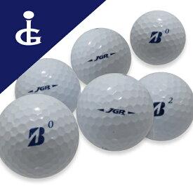 【訳あり】ブリヂストンゴルフ JGRカラー:ホワイトコマーシャル・オウンネームボール2ダース【中古】ロストボール ゴルフボール