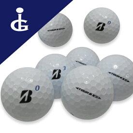 【訳あり】ブリヂストンゴルフ TOUR BXS '17 Bマークエディションカラー:ホワイトコマーシャル・オウンネームボール2ダース【中古】ロストボール ゴルフボール