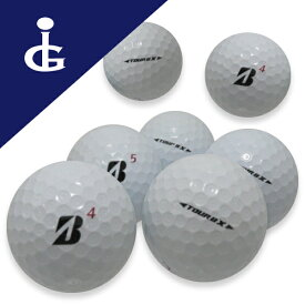 【送料無料】ブリヂストンゴルフTOURB X '17 Bマークエディションカラー:ホワイト★★ランク/2ダース【中古】ロストボール ゴルフボール