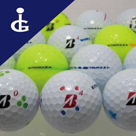 ブリヂストンゴルフ TOURBX'17Bマーク カラー色々マジックボール/30個セット 訳あり ロストボール ゴルフボール【中古】